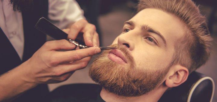 Мужская стрижка и укладка, коррекция бороды в студии красоты «Violet»